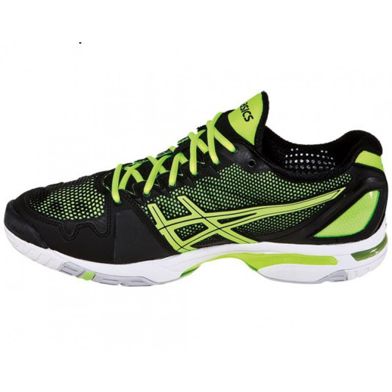 asics gel solution speed black yellow s tennis shoes