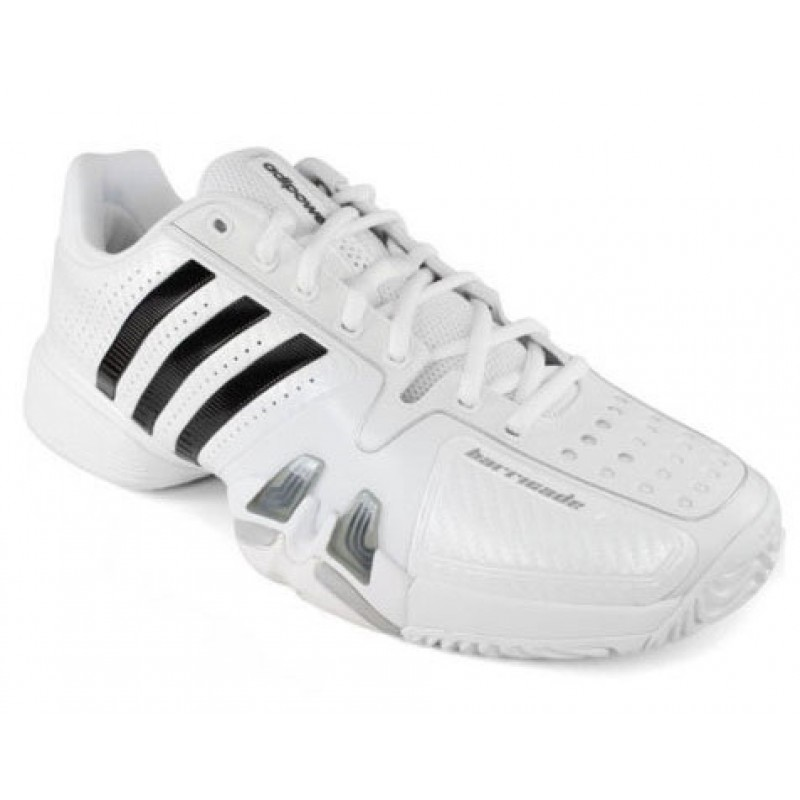 Adidas Mens Barricade Novak Pro Tennis Shoes White
