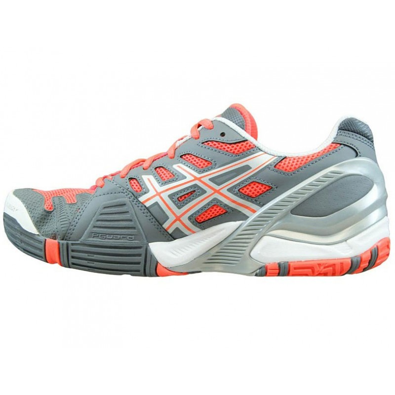 Home Asics Gel Resolution Grey Melon Women Tennis Shoes