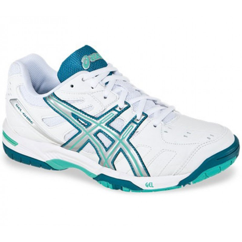 ASICS Women`s Gel Game 4 Tennis Shoes White/Silver/Teal