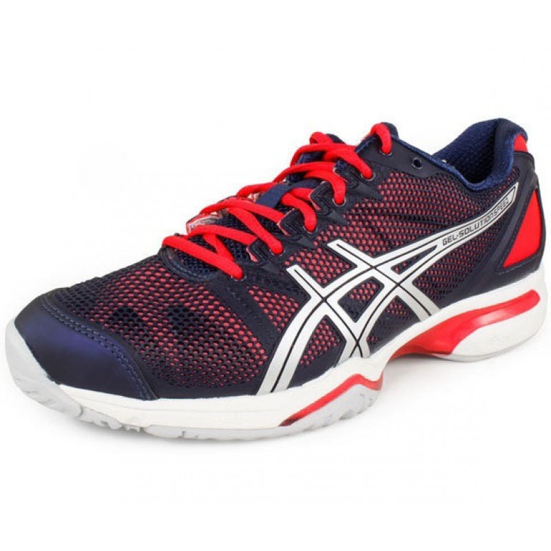 asics gel solution speed navy pink s tennis shoes