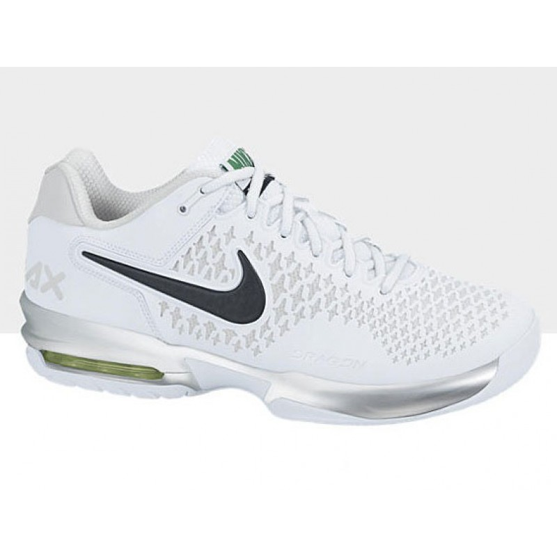 nike s air max cage tennis shoes white grey review
