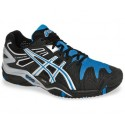 Asics Gel Resolution 5 Clay Black + Blue Men's Tennis Shoes