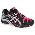 Asics Gel Resolution 5 Black + Pink Women's Tennis Shoes