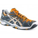 Asics Gel Resolution 4 Grey + Orange Men's Tennis Shoes
