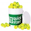 Quick Start Green Felt 36 Tennis Balls Bucket