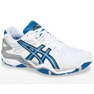Asics Gel Resolution 5 White + Blue Men's Tennis Shoes