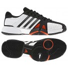 Adidas Barricade Team 2 White + Black Men's Tennis Shoes