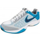 Nike Cage Court White + Bl + Grey Men's Tennis Shoes