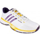 Adidas Barricade 7.0 White + Dark Violet Women's Tennis Shoes