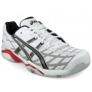 Asics Gel Challenger 8 White + Silver Men's Tennis Shoes