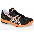 Asics Gel Game 4 Black + Orange Men's Tennis Shoes