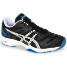Asics Gel Solution Slam Black + Blue Men's Tennis Shoes