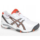 Asics Gel Challenger 9 White + Orange Men's Tennis Shoes