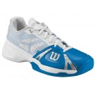 Wilson Men's Rush Pro Tennis Shoes Blue + White