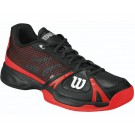 Wilson Men's Rush Tennis Shoes Black + Red