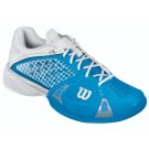 Wilson Women's Rush Pro Tennis Shoes Blue + White