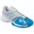 Wilson Women's Rush Tennis Shoes Blue + White