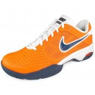 Nike Air Courtballistec 4.1 Men's Tennis Shoes Orange + White