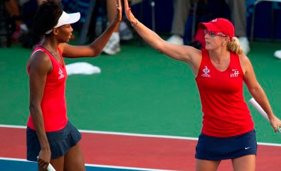 July 16, 2012: Washington Kastles vs Boston LobstersVenus Williams and Anastasia Rodionova