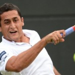 Spain's Nicolas Almagro plays a forehand