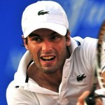 Spain tennis player Pablo Andujar return