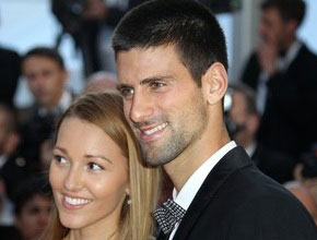 Serbian tennis player Novak Djokovic and