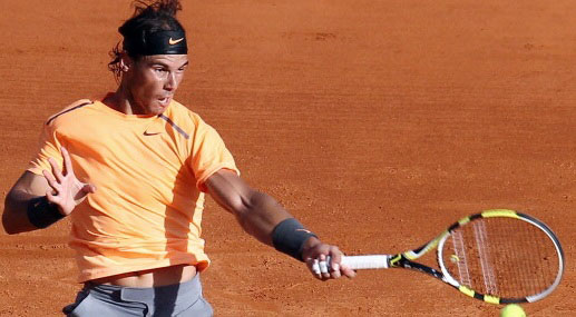 Spain's Rafael Nadal hits return to Fran