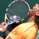 Spain's Rafael Nadal celebrates after wi