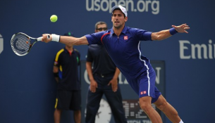novak djokovic forehand us open